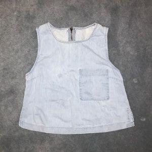 Tops - Cute Pocket Jean Top